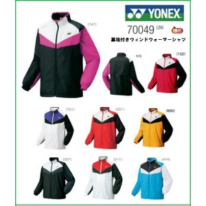 YONEX ヨネックス ユニ 裏地付きウィンドウォーマーシャツ  70049 テニス バドミントン ウィンドブレーカー 男女兼用|proshop-yamano