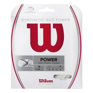 50%OFF WILSON テニスガット シンセティック・ガット・パワー16 SYNTHETIC GUT POWER 16 WRZ945100 proshop-yamano