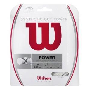 WILSON  ウィルソン  テニスガット シンセティック・ガット・パワー16 SYNTHETIC GUT POWER 16 40%OFFセール WRZ945100|proshop-yamano
