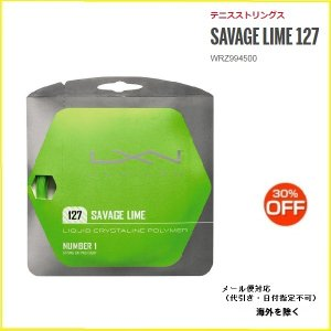 LUXIRON ルキシロン SAVAGE LIME 127 WRZ994500 テニスガット  サベ...