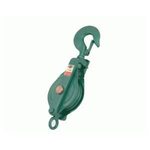 【法人のみ】スリーエッチ 強力型滑車 一車スナッチ(ベケット付) フック型 75X1S (/B) proshopdate15