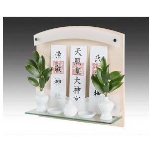 Altar リビング神棚 モダン 壁掛け標準サイズ ヒノキ [Neo 410G] ※神具別売り (/X)|proshopdate15