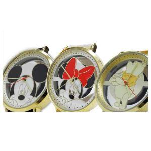 【送料無料(ポスト投函)】SUNFLAME Disney ディズニー 腕時計 レディース メンズ 男女兼用 ミッキー/ミニー/プーさん [WD-B13]【代引不可】 (/Q) proshopdate15
