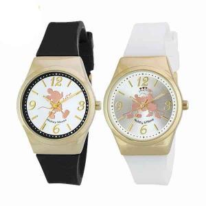 Disney(/Q) ディズニー 腕時計 レディース メンズ 男女兼用 ミッキー/ミッキー&ミニー シリコンベルト ブラック/ホワイト [WD-AD06] proshopdate15