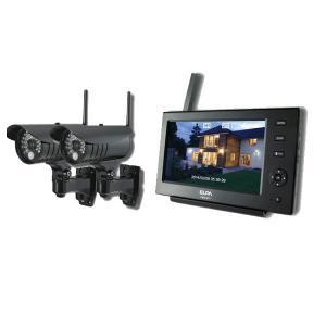 ELPA 防犯/セキュリティ ワイヤレスカメラ&モニター カメラ2台セット [CMS-7110 ・CMS-C71] (/F) proshopdate15