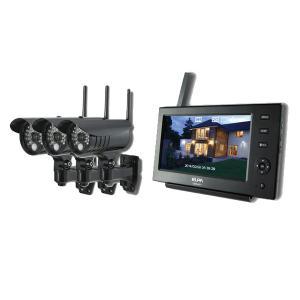 ELPA 防犯/セキュリティ ワイヤレスカメラ&モニター カメラ3台セット [CMS-7110 ・CMS-C71] (/F) proshopdate15