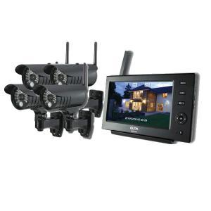 ELPA 防犯/セキュリティ ワイヤレスカメラ&モニター カメラ4台セット [CMS-7110 ・CMS-C71]