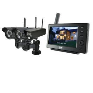 ELPA 防犯/セキュリティ モニター&ワイヤレスカメラ3台セット [CMS-7110 ・CMS-C70・CMS-C71] (/F) proshopdate15