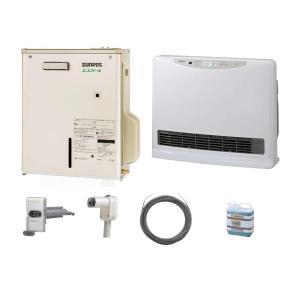 【送料無料】SUNPOT 温水ルームヒーター エコフィール フルセット(室外機/室内機/温水プラグセット/不凍液5L/本体固定具セット) [CUES-E673CSO-SET] (/F)|proshopdate15