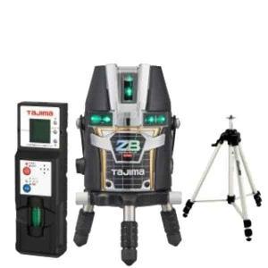 タジマ ブルーグリーンレーザー 墨出し器 ZERO BLUEリチウム-KJC 受光器・三脚セット [ZEROBL-KJCSET] (/A)|proshopdate15