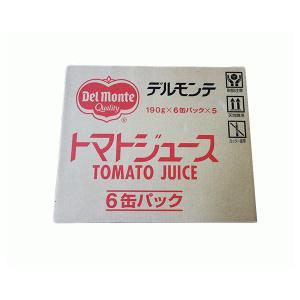 【アウトレット】デルモンテ(キッコーマン) トマトジュース 190g×6缶パック×5セット(30缶) 1箱 【在庫特価】 (/G)|proshopdate15