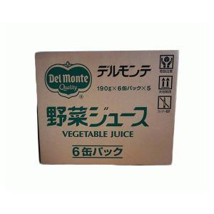 【アウトレット】デルモンテ(キッコーマン) 野菜ジュース 190g×6缶パック×5セット(30缶) 1箱 【在庫特価】 (/G)|proshopdate15