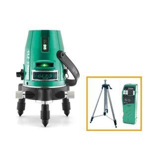山真製鋸 レーザー墨出し器 グリーンレーザー 本体+受光器+三脚セット [GLZ-3-W] (/B)|proshopdate15