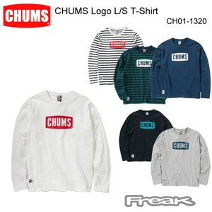 3956706496e CHUMS チャムス CH01-1320<CHUMS Logo L/S T-Shirt チャムスロゴ長袖Tシャツ(トップス/カットソー)>※取り寄せ品