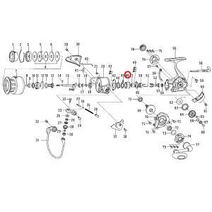 ダイワ セルテート ハイパーカスタム3000 ワンウェイクラッチ 部品NO46【メール便OK】|proshopks