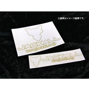 ジャッカル カッティングステッカー ゴールド/ホワイト タイプ4 S JACKALL 【メール便OK】 proshopks