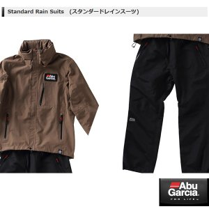 アブ Standard Rain Suits (スタンダードレインスーツ) サイズ L #カーキ・ブラックパンツ 【メール便NG】 【お取り寄せ対応商品】|proshopks