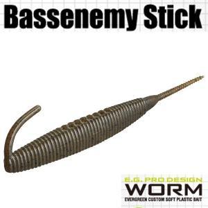 エバーグリーン Bassenemy Stick (バスエネミー スティック) 5インチ #01 グリーンパンプキン・BK 【メール便OK】【FECO認定商品】 proshopks