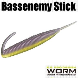 エバーグリーン Bassenemy Stick (バスエネミー スティック) 5インチ #39 パープルウィニー 【メール便OK】【FECO認定商品】 proshopks