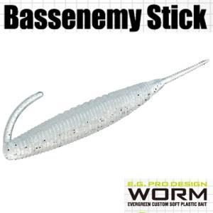 エバーグリーン Bassenemy Stick (バスエネミー スティック) 5インチ #95 シラウオ 【メール便OK】【FECO認定商品】|proshopks