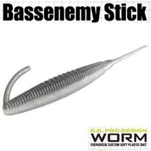 エバーグリーン Bassenemy Stick (バスエネミー スティック) 5インチ #102 ナチュラルシャッド 【メール便OK】【FECO認定商品】|proshopks