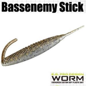 エバーグリーン Bassenemy Stick (バスエネミー スティック) 5インチ #104 グリパンシャッド・GD 【メール便OK】【FECO認定商品】|proshopks