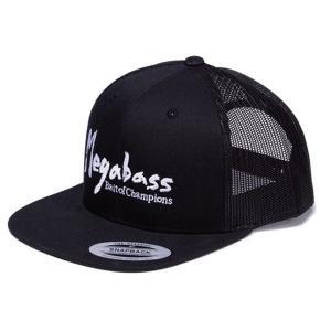 メガバス トラッカーハット ブラッシュロゴ #Black/White 【メール便NG】【お取り寄せ商品】 proshopks