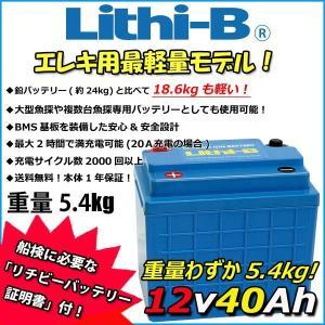 リチビー(Lithi-B)  12v バッテリー 40Ah (LifePO4 リチウムバッテリー) 【送料無料】|proshopks