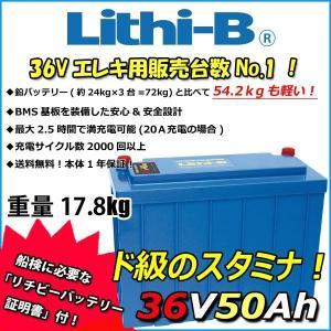 リチビー(Lithi-B)  36v バッテリー 50Ah (LifePO4 リチウムバッテリー) 【送料無料】|proshopks
