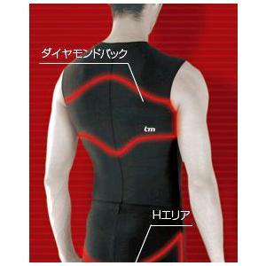 Asics / 肩バランスアップアンダー 男性用 機能性インナー|proskiwebshop
