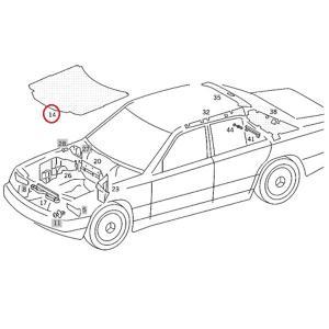 ベンツ W124 ボンネットインシュレーター フードインシュレーター 1246800025 230E 260E 280E 300E 320E 400E E280 E320 E400 E500 230TE 300CE|protechauto|02