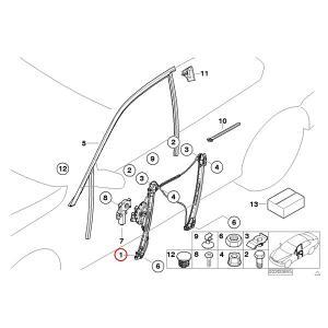 [6ヶ月保証]BMW E46 フロント パワーウインドウレギュレーター 右側 セダン ツーリングワゴン 51337020660 51338212098 318i 320i 323i 325 328i 330i 330xi|protechauto|02