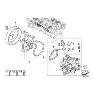 全国送料200円 FAE製 BMW MINI ミニ R56 R55 R57 水温センサー/テンプセンサー/ダブルテンプスイッチ 13627535068 JCW Cooper CooperS One|protechauto|02
