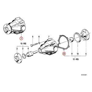 [6ヶ月保証] GRAF製 BMW 7シリーズ E23 ウォーターポンプ M30 直6エンジン ガスケット付き PA379 11519070756 11519070757 728 728i 730 732i 733i|protechauto|02