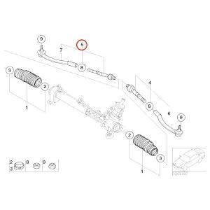 BMW MINI ミニクーパー MEYLE製 R50 R53 クーパー クーパーS ワン  ステアリングタイロッド 右側  32116780786 R50 R53 protechauto 02
