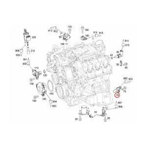 ベンツ Eクラス W211 W212 C207 A207 クランク角センサー/クランクセンサー/クランクシャフトセンサー 642153072805 6421530728 E250 E280 E300 E350 E350 E550|protechauto|03