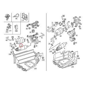 純正OEM Pierburg製 ベンツ W220 R230 W215 W463 S55AMG SL55AMG SL63AMG CL55AMG G55AMG 燃料ポンプ/フューエルポンプ 0014706594 0014704994|protechauto|02