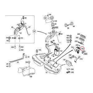 純正OEM Pierburg製 ベンツ W203 燃料レベルセンサー/フューエルレベルセンサー 正方4ピンカプラー 2034701641 C180 C200 C230 C240 C280 C320 C32AMG|protechauto|02