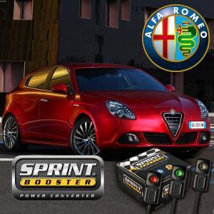 アルファロメオ スプリントブースター 左ハンドル AT用 3パターン機能 切換スイッチ付 Alfa Romeo 159 ジュリエッタ BRERA COUPE SBDI253A|protechauto