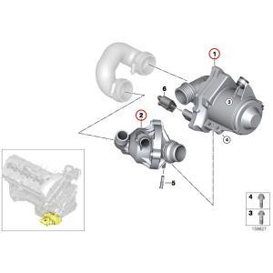 BMW 3シリーズ E92 E93 VDO製 電気式ウォーターポンプ&サーモスタット N54 N54T 直6エンジン 11517632426 11537549476 VDO A2C59514607 335i protechauto 02