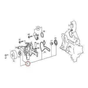 ベンツ W215 C208 A208 C209 A209 ウォーターポンプ&ベルトテンショナー&アイドラプーリー&ファンベルト 4点 1122001501 1122010601 CL500 CLK240 CLK320|protechauto|02