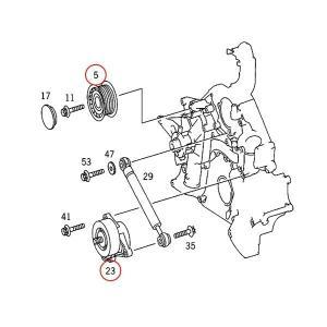 ベンツ W215 C208 A208 C209 A209 ウォーターポンプ&ベルトテンショナー&アイドラプーリー&ファンベルト 4点 1122001501 1122010601 CL500 CLK240 CLK320|protechauto|03