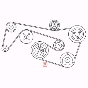 [優良品]ベンツ CLKクラス C208/A208 C209 A209 ファンベルト/Vベルト 6PK2390 6PK2392 0119979792 0029933096 0129977092 CLK320 CLK240 CLK55AMG|protechauto|02
