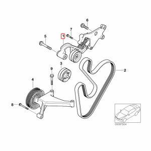 URO製 BMW MINI ミニ R53 R52 ベルトテンショナー/ベルトオートテンショナー W11 エンジン用 11288620210 11287509476 クーパーS CooperS|protechauto|02