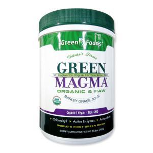 酵素・タンパク質が生きてるオーガニック青汁 グリーンフーズ グリーンマグマ大麦若葉 300g