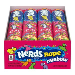 [NEW] ナーズロープレインボーキャンディー 26g(0.9oz)24個入り Nerds Rope(ナーズロープ)|proteinusa