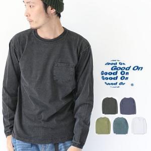 Good On グッドオン L/S POCKET TEE ロングスリーブ ポケット ロング Tシャツ / 送料無料|protocol
