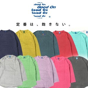フェス Tシャツ ブランド メンズ 無地 グッドオン ラグランtシャツ Good On ベースボールTシャツ レディース キャンプ ゆったり 送料無料|protocol