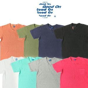 GOOD ON グッドオン S/S V-NECK POCKET TEE  ショートスリーブVネックポケットTシャツ GOST1408 protocol