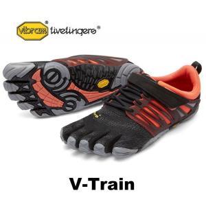 ビブラムファイブフィンガーズ レディース ランニング VibramFiveFingers 5本指シューズ V-Train 17W6604 Black/Coral/Grey|protocol
